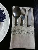 Úžitkový textil - Puzdro na príbor Pure Beauty - 5513849_