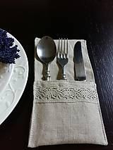 Úžitkový textil - Puzdro na príbor Pure Beauty - 5513850_