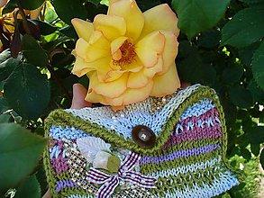 Taštičky - Nokturno voňavej  ruže v zelenom, kapsička - 5514780_