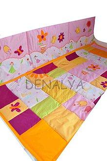Textil - Mantinel na stenu kolekcia Kvetinková Víla vzor A 50x200cm - 5519294_