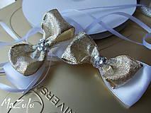 Nádoby - mašle na svadobné poháre - 5519054_