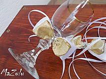 Nádoby - mašle na svadobné poháre - 5519055_