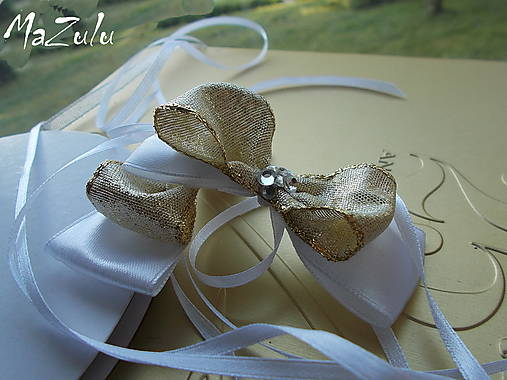 mašle na svadobné poháre