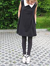 Šaty - FNDLK áčkové šaty 05 s kolárkem do špičky - 5519620_