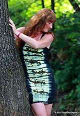 Šaty - Šaty tielkové batikované a maľované SALAMANDRIČKY - 5516780_