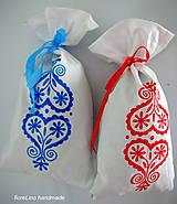Úžitkový textil - folk vrecko na bylinky - modré - 5516806_