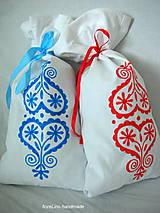 Úžitkový textil - folk vrecko na bylinky - červené - 5516814_