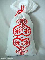 Úžitkový textil - folk vrecko na bylinky - červené - 5516815_