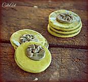 Materiál ručne robený - Zelené - sada 4 ks - 5516910_