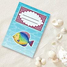 Papiernictvo - Minizápisník Morský svet (rybka) - 5516556_
