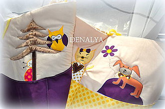 Textil - Vreckár na stenu 50x200cm V LESE - 5522290_