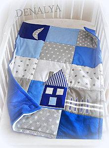 Textil - Deka Domček 70x90cm -trojvrstvová- - 5522481_
