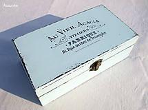 Krabičky - Shabby bledomodrá - 5521903_