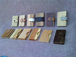 Peňaženky - Drevená peňaženka - 5519675_