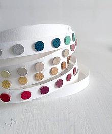 Náušnice - Kožené bodky / napichovačky (15 farieb) - 5521553_