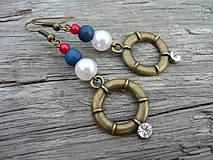- Náušnice Námořnícké kruhy - 5521582_