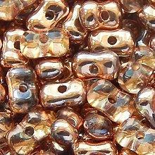 Korálky - Farfalle - metalická medená - 5520870_