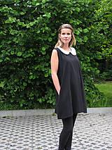 Šaty - FNDLK áčkové šaty 06 s kulatým kolárkem  - 5522457_