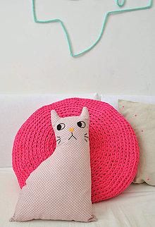 Úžitkový textil - Vankúšik mačka - 5519704_