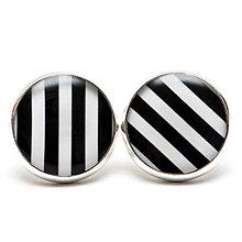 Náušnice - BLACK & WHITE STRIPES - 5521923_
