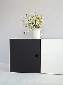 Nábytok - Skrinka čierna, biela - 5519822_