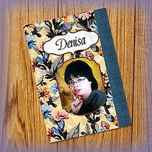 Papiernictvo - Romantický kvetový zápisníček s vlastnou fotkou a s menom 2 - 5521272_