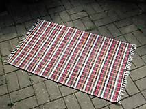 Úžitkový textil - koberec 80 x 130 cm hnedý pásikavý - 5522886_