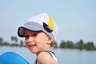 Detské čiapky - Plážová šiltovka s menom - 5525068_