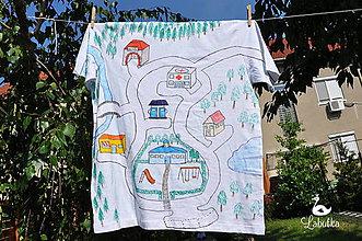 Oblečenie - Pánske tričko - mesto - 5522800_