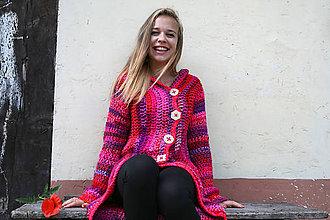 Svetre/Pulóvre - Háčkovaný sveter Elza - 5524652_