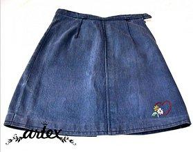 Detské oblečenie - Srdiečko -riflová suknička - 1005382_