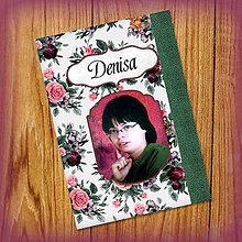 Papiernictvo - Romantický kvetový zápisníček s vlastnou fotkou a s menom 6 - 5522972_