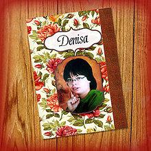 Papiernictvo - Romantický kvetový zápisníček s vlastnou fotkou a s menom 8 - 5523938_