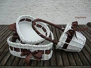 Dekorácie - Svadobné košíčky - menšie sady (čokoládová) - 5527014_