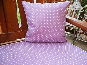 Úžitkový textil - vankúšik - fialová bodka - 5527827_