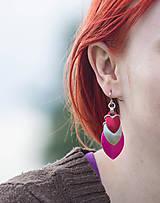 Náušnice - Krovky lipstick - náušnice - 5525636_
