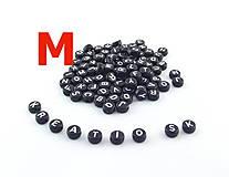 - M - Akrylové písmenko, čierne - 5526768_