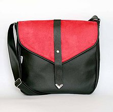 Kabelky - Elle (čierno-červená) - 5525837_