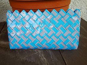 Kabelky - Modro-sivá Ecoistka - 5525716_