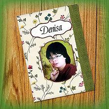 Papiernictvo - Romantický kvetový zápisníček s vlastnou fotkou a s menom 11 - 5526635_
