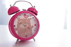 - Ružový budík Pink maco s ciferníkom - 5530113_