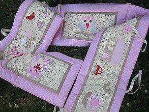 Textil - hniezdo čarovné, ružové... - 5529861_