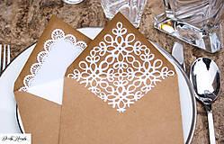 Papiernictvo - svadobné recy obálky s čipkovaným vnútrom - 5529270_