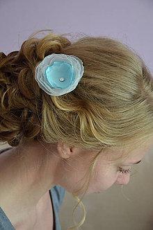 Ozdoby do vlasov - Sponka kvítek - 5530991_
