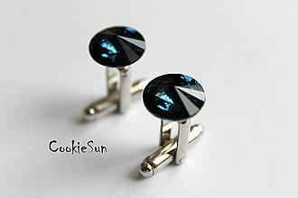 Šperky - Manžetové gombíky Swarovski Rivoli Montana - 5530157_