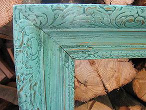 Rámiky - Rám Élégance Turquoise - predaný - 5530717_