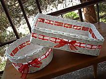 Košíky - Svadobné košíky..čipkované - 5528901_