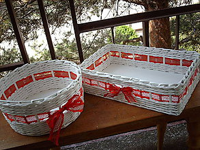 Košíky - Svadobné košíky..čipkované - 5528897_
