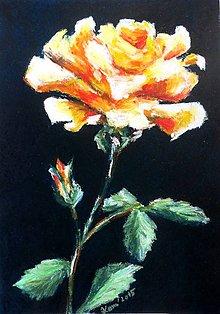 Obrazy - Oranžovo sama - obraz na stenu, maľba, originál - 5533658_