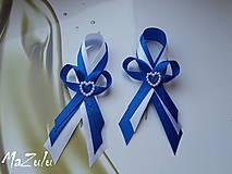 kráľovská modrá & biela/ veľké/